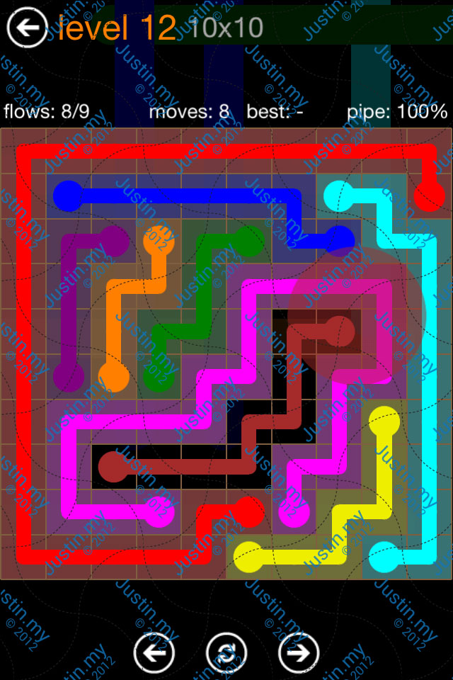 Flow Game Jumbo Pack 10x10 Level 12