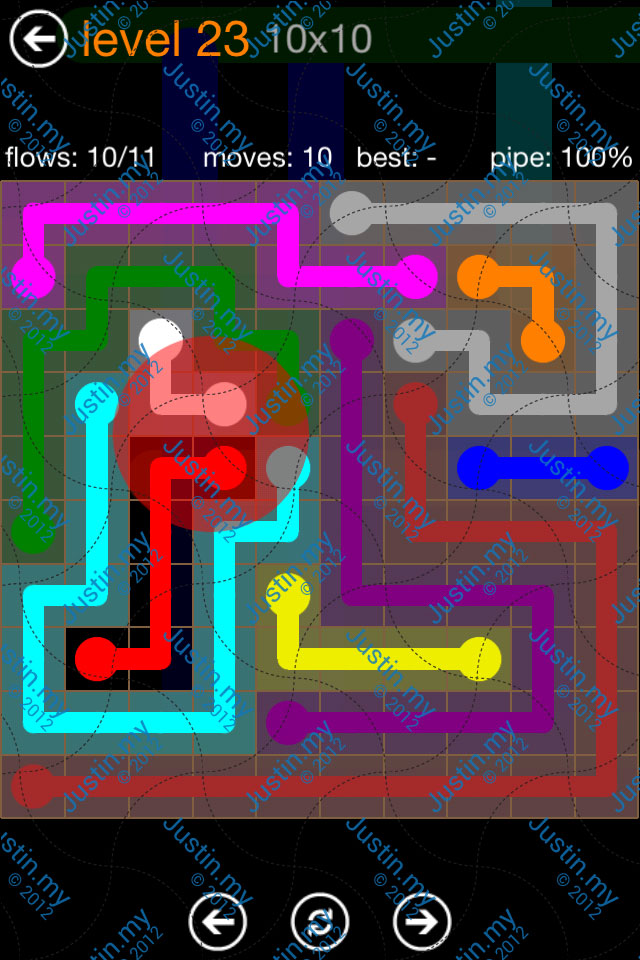 Flow Game Jumbo Pack 10x10 Level 23