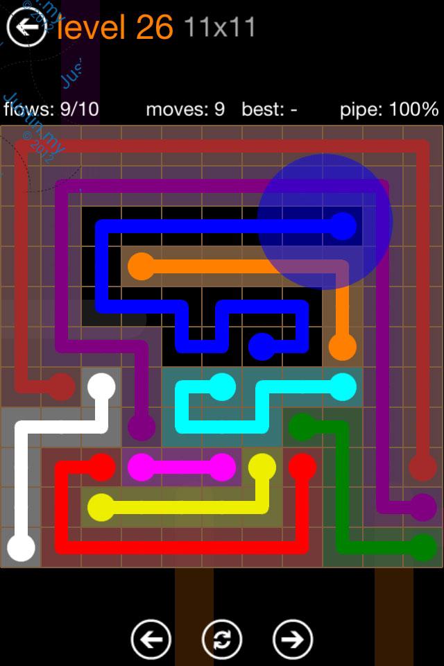 Flow Game Jumbo Pack 11x11 Level 26