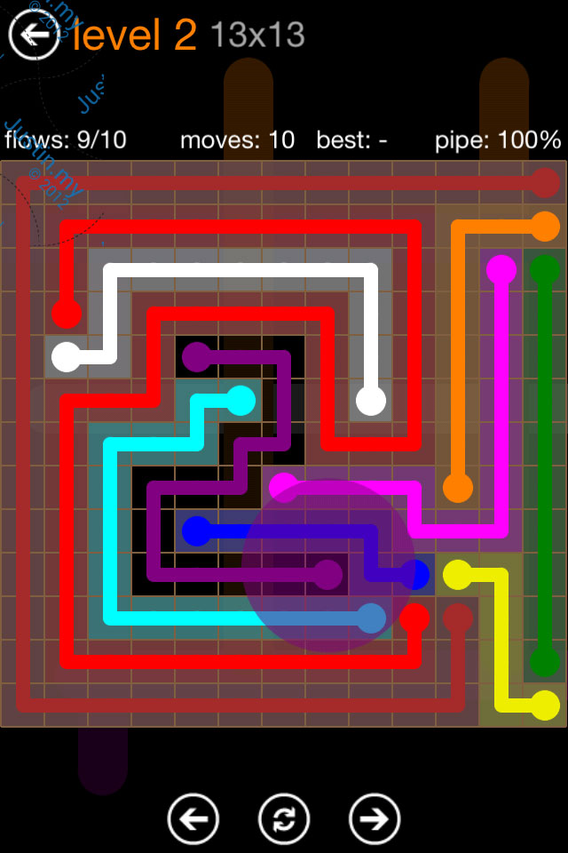 Flow Game Jumbo Pack 13x13 Level 02