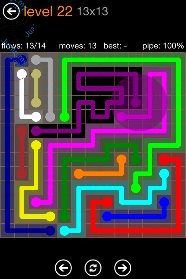 Flow Game Jumbo Pack 13x13 Level 22