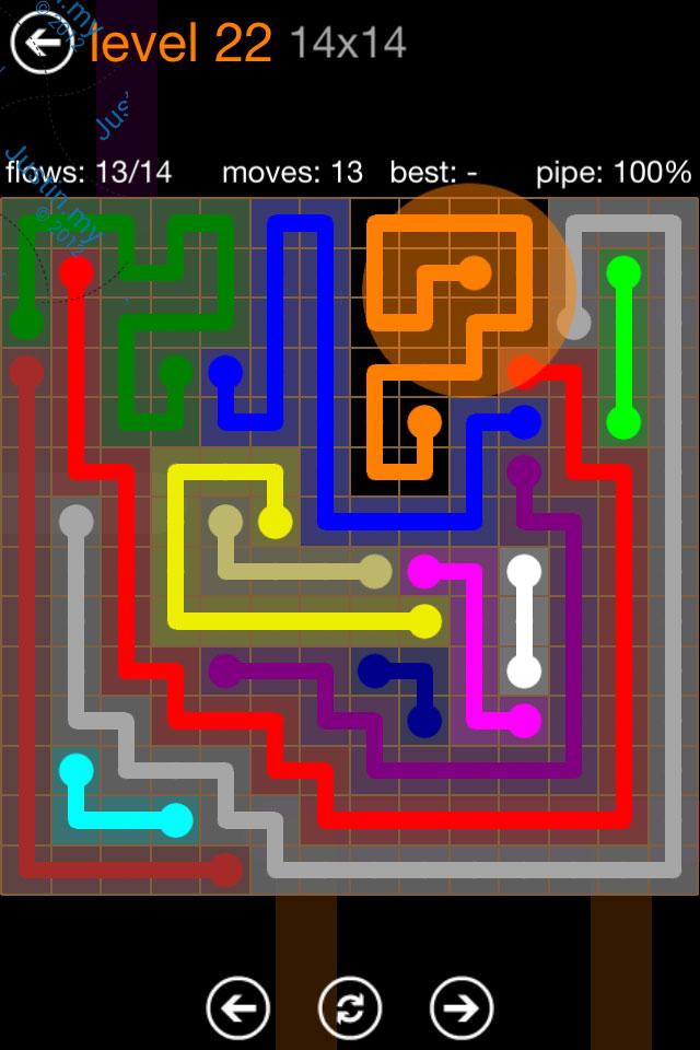 Flow Game Jumbo Pack 14x14 Level 22