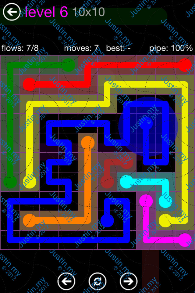 Flow Game Purple Pack 10x10 Level 06