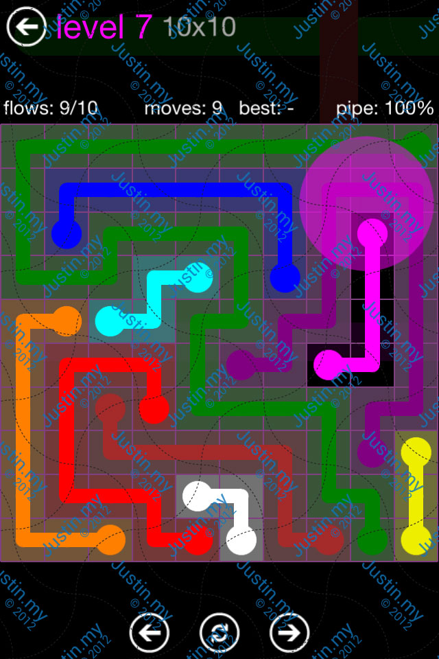 Flow Game Purple Pack 10x10 Level 07