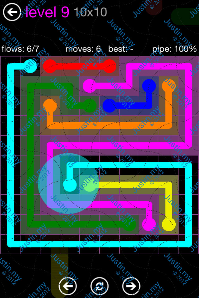 Flow Game Purple Pack 10x10 Level 09