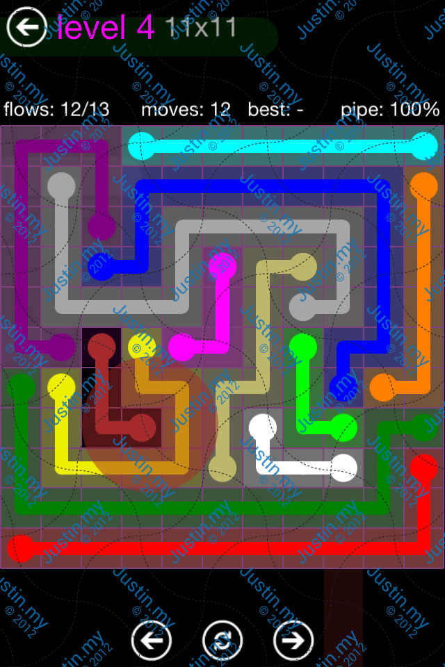Flow Game Purple Pack 11x11 Level 04