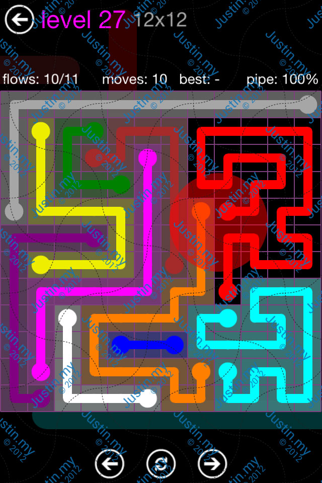 Flow Game Purple Pack 12x12 Level 27
