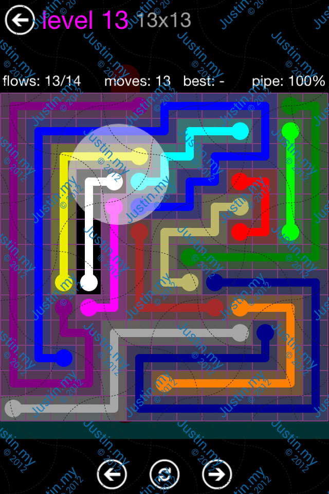 Flow Game Purple Pack 13x13 Level 13