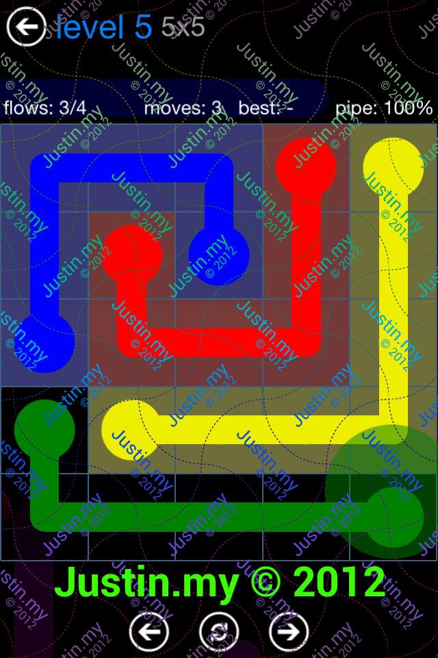 Flow Game Bonus Pack 5x5 Level 05