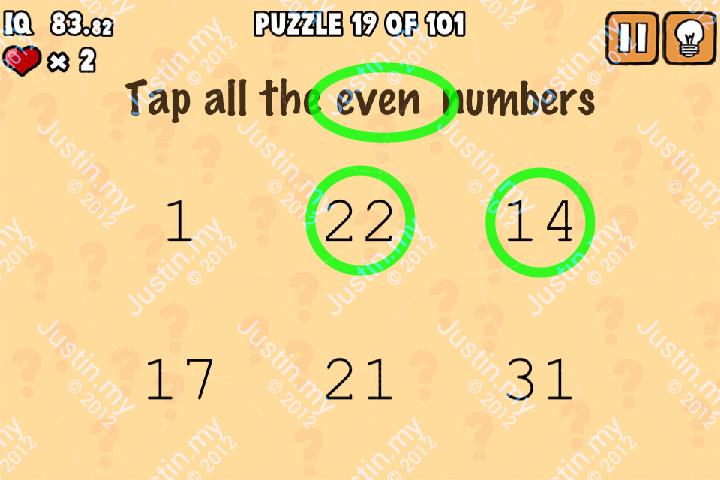 Whats My IQ Cheats Level 19