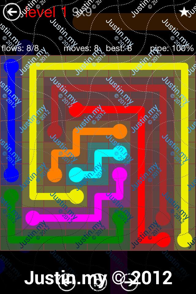 Flow 9x9 Mania Level 001