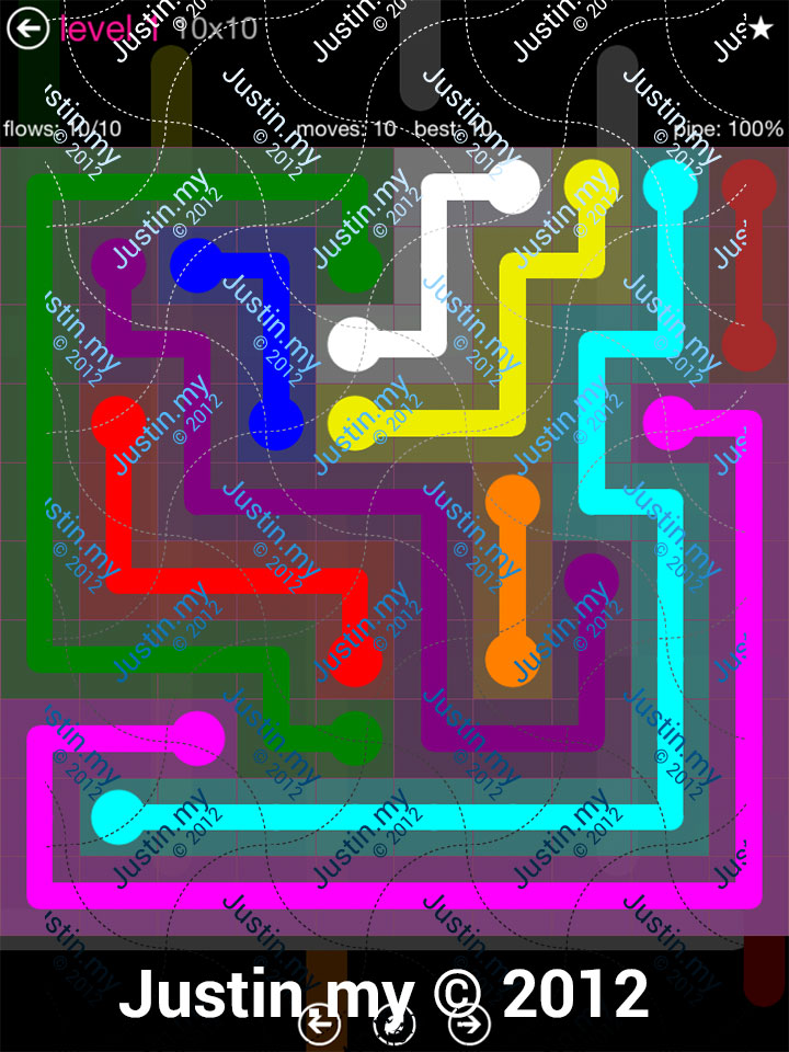 Flow Game Pink Pack 10x10 Level 01