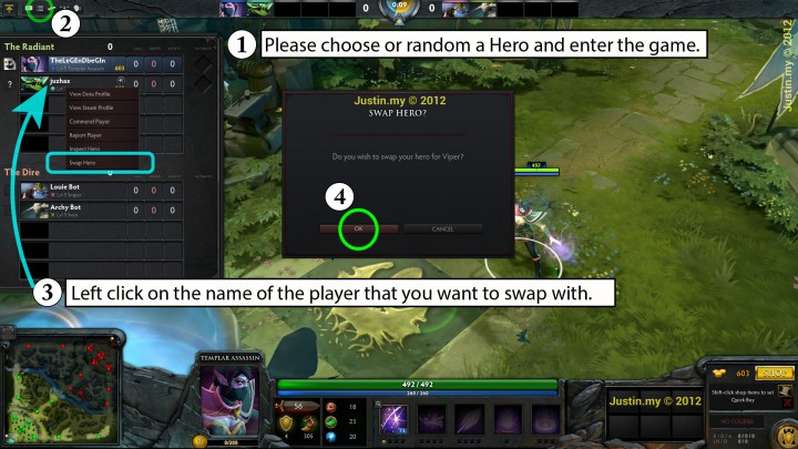 How to Swap Hero in Dota 2