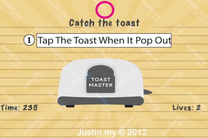 Impssible Test 2 - Catch the toast