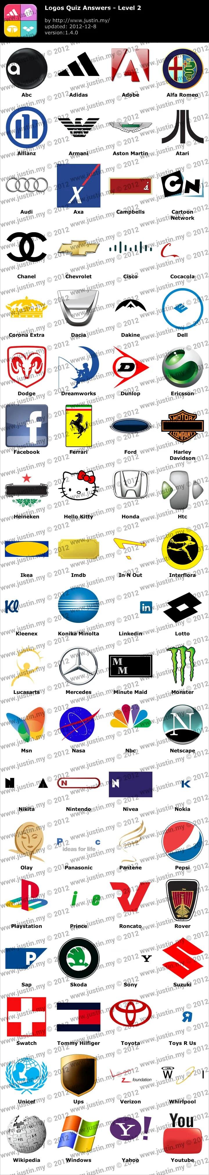 Logos Quiz Level 2