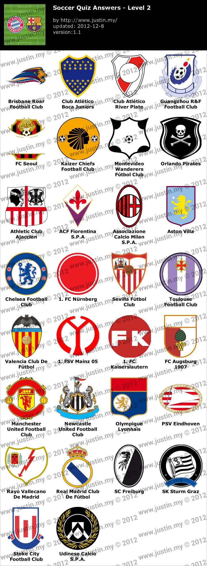 Soccer Quiz Level 2