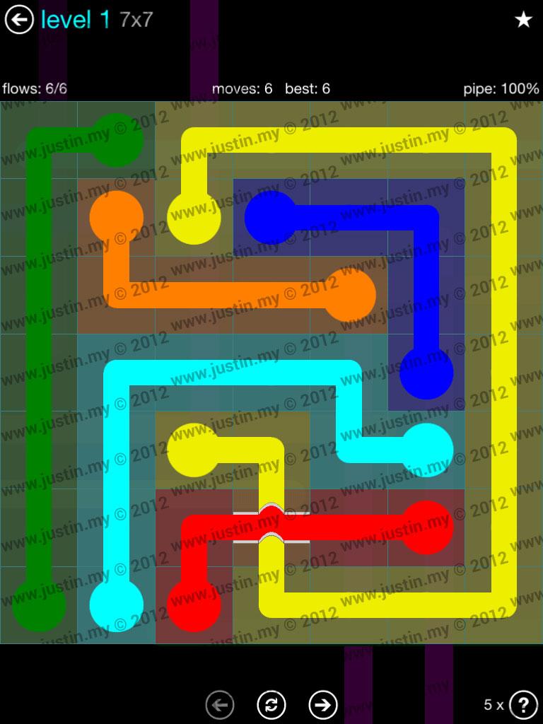 Flow Bridges 7x7 Mania  Level 1