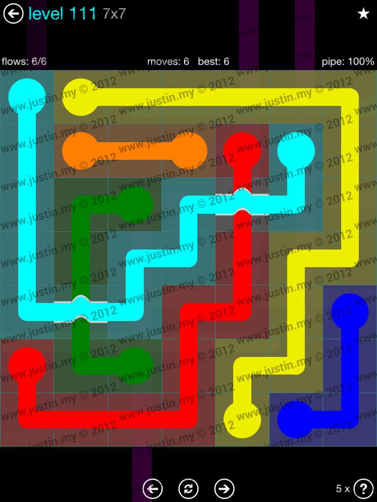 Flow Bridges 7x7 Mania  Level 111