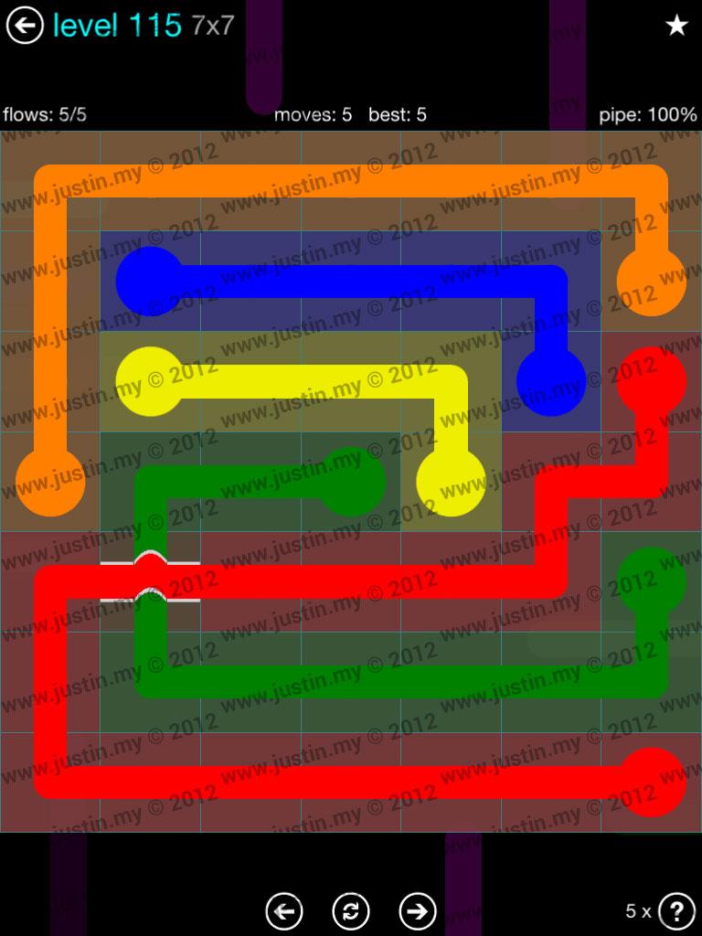 Flow Bridges 7x7 Mania  Level 115