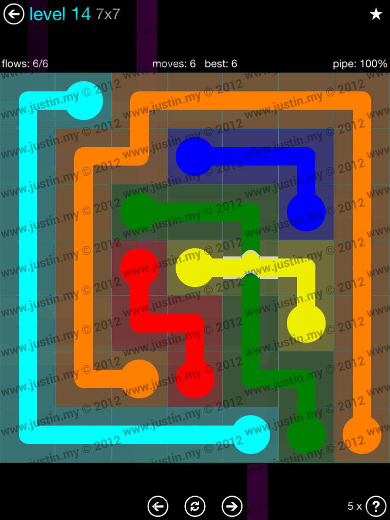 Flow Bridges 7x7 Mania  Level 14