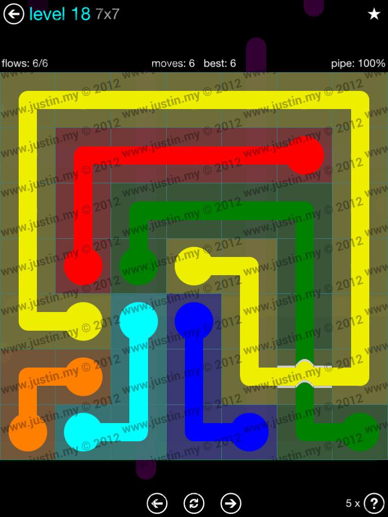 Flow Bridges 7x7 Mania  Level 18