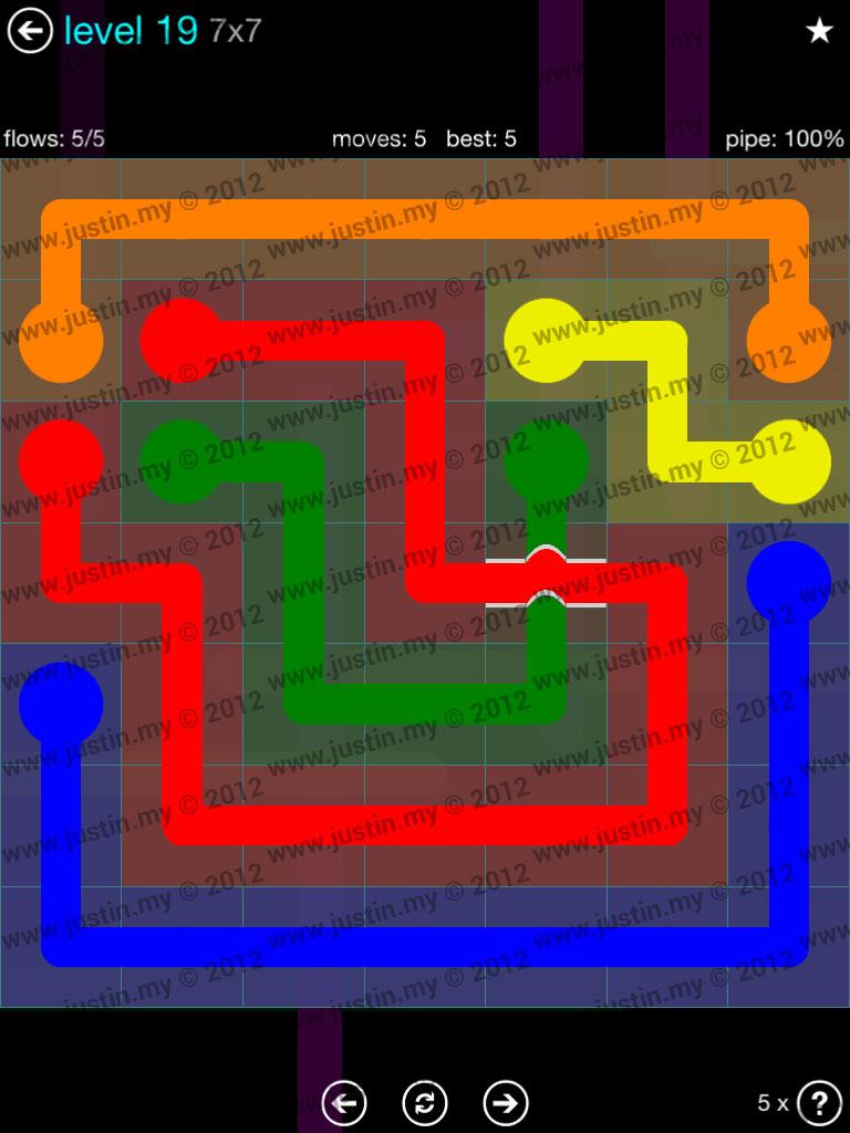 Flow Bridges 7x7 Mania  Level 19