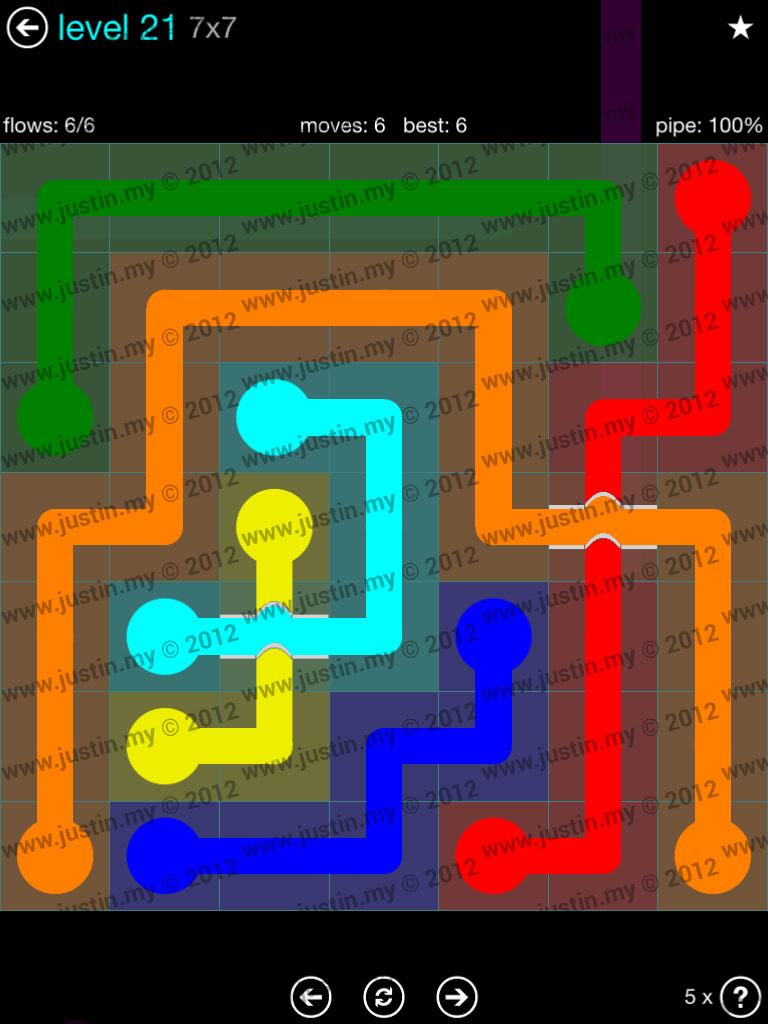 Flow Bridges 7x7 Mania  Level 21