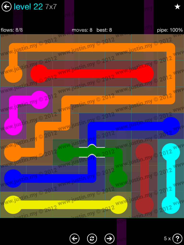 Flow Bridges 7x7 Mania  Level 22