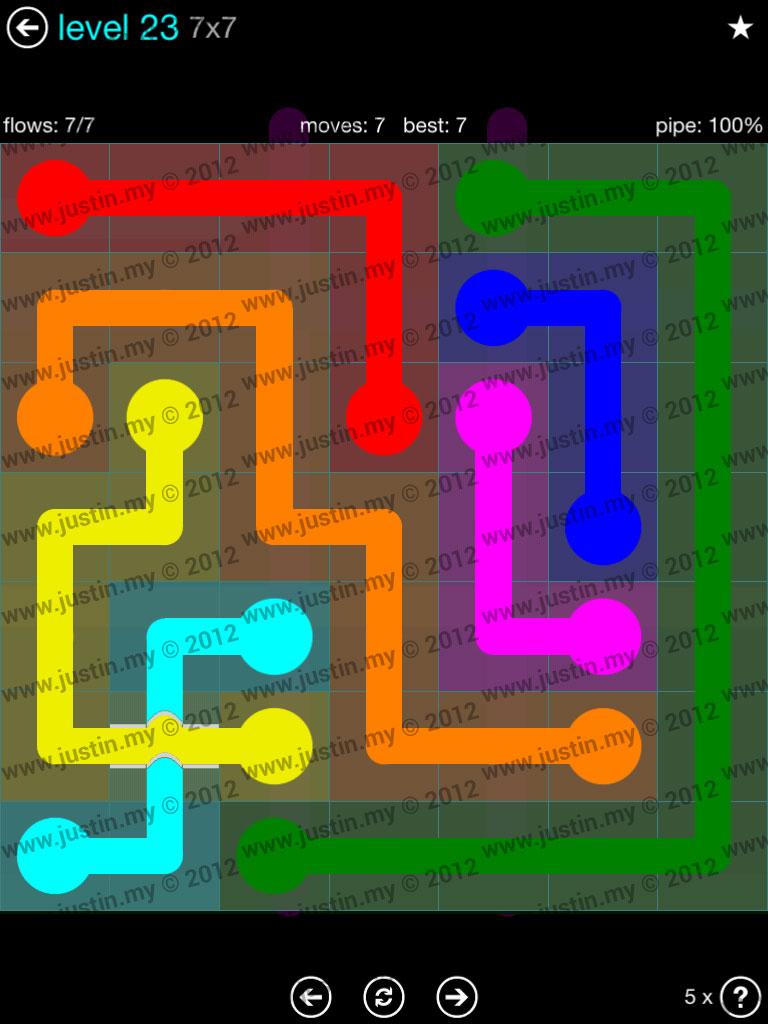 Flow Bridges 7x7 Mania  Level 23