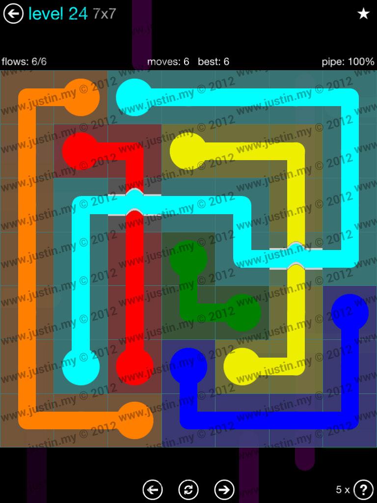 Flow Bridges 7x7 Mania  Level 24