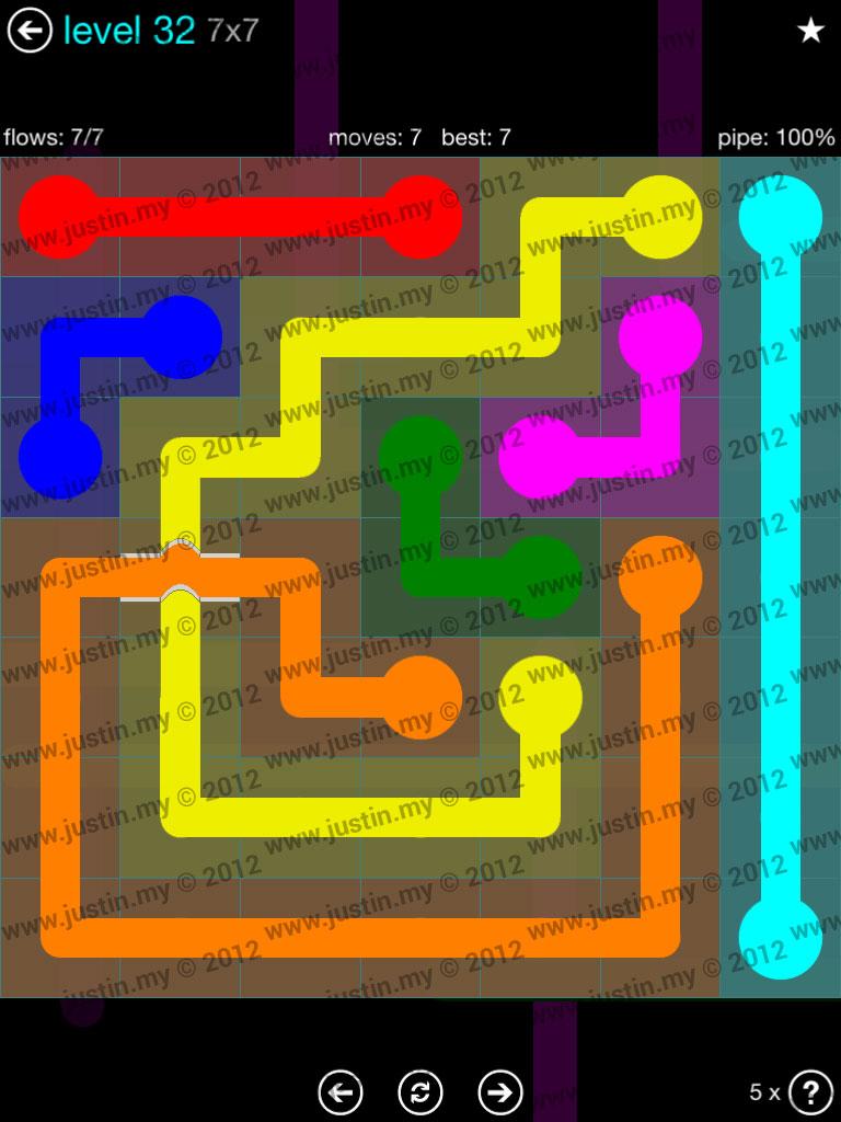 Flow Bridges 7x7 Mania  Level 32