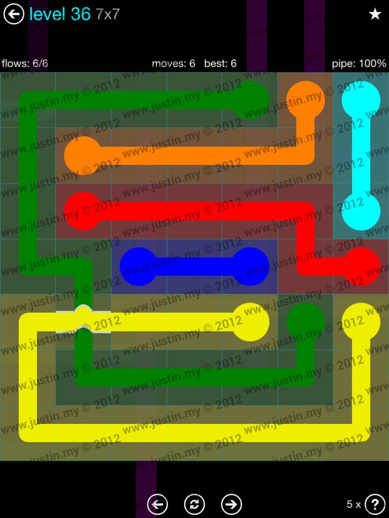 Flow Bridges 7x7 Mania  Level 36