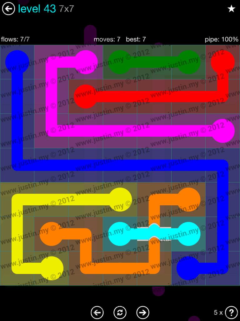 Flow Bridges 7x7 Mania  Level 43