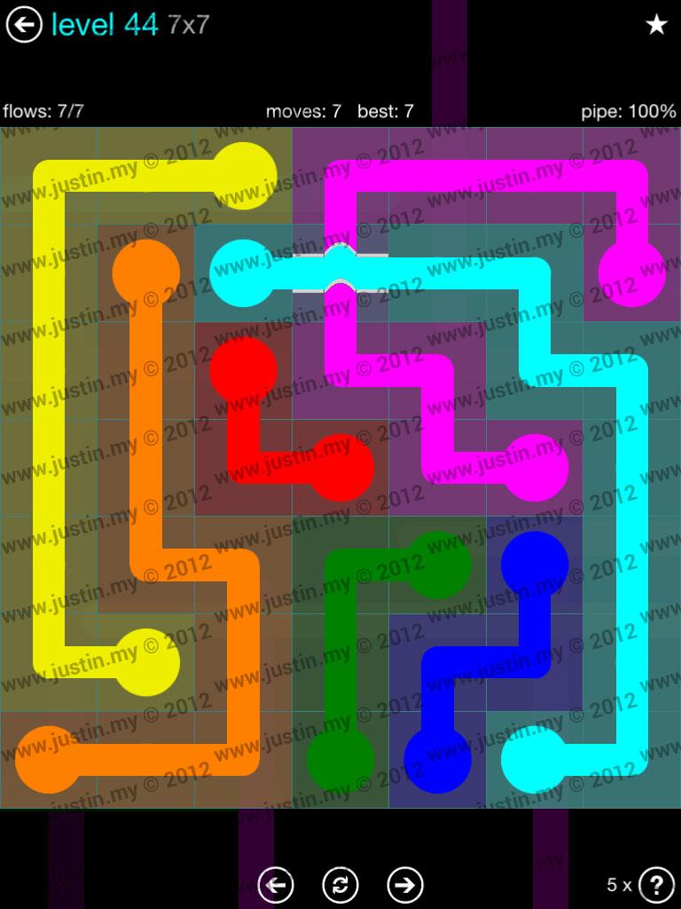 Flow Bridges 7x7 Mania  Level 44
