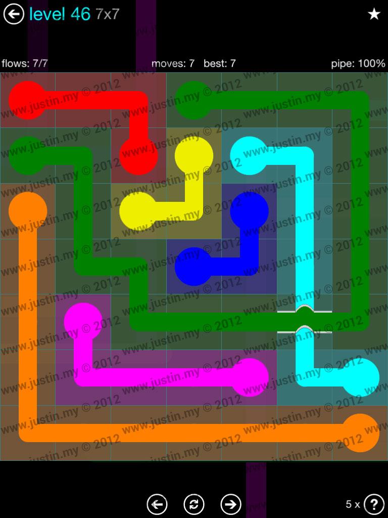 Flow Bridges 7x7 Mania  Level 46