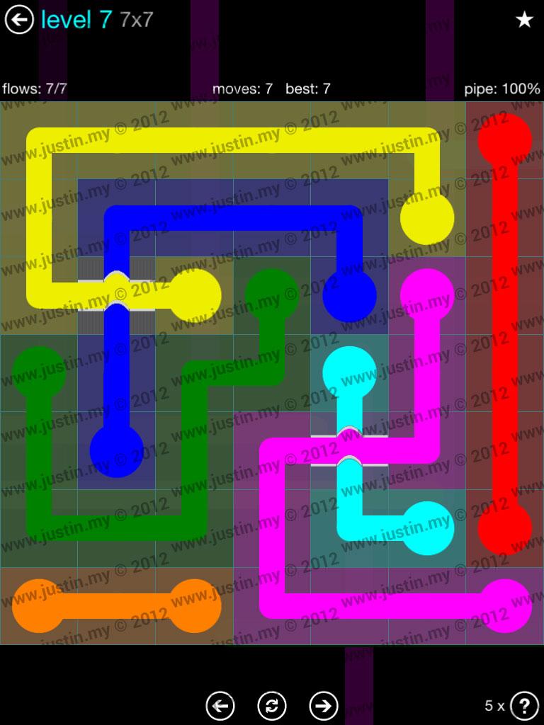 Flow Bridges 7x7 Mania  Level 7