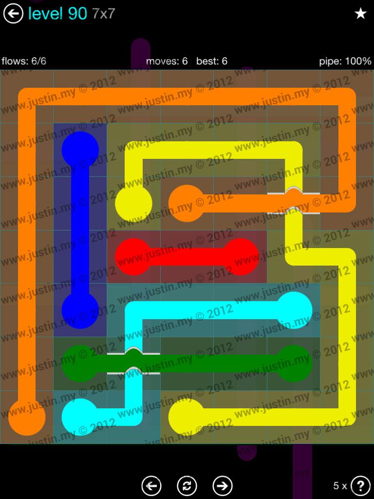 Flow Bridges 7x7 Mania  Level 90