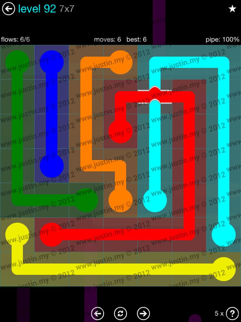 Flow Bridges 7x7 Mania  Level 92