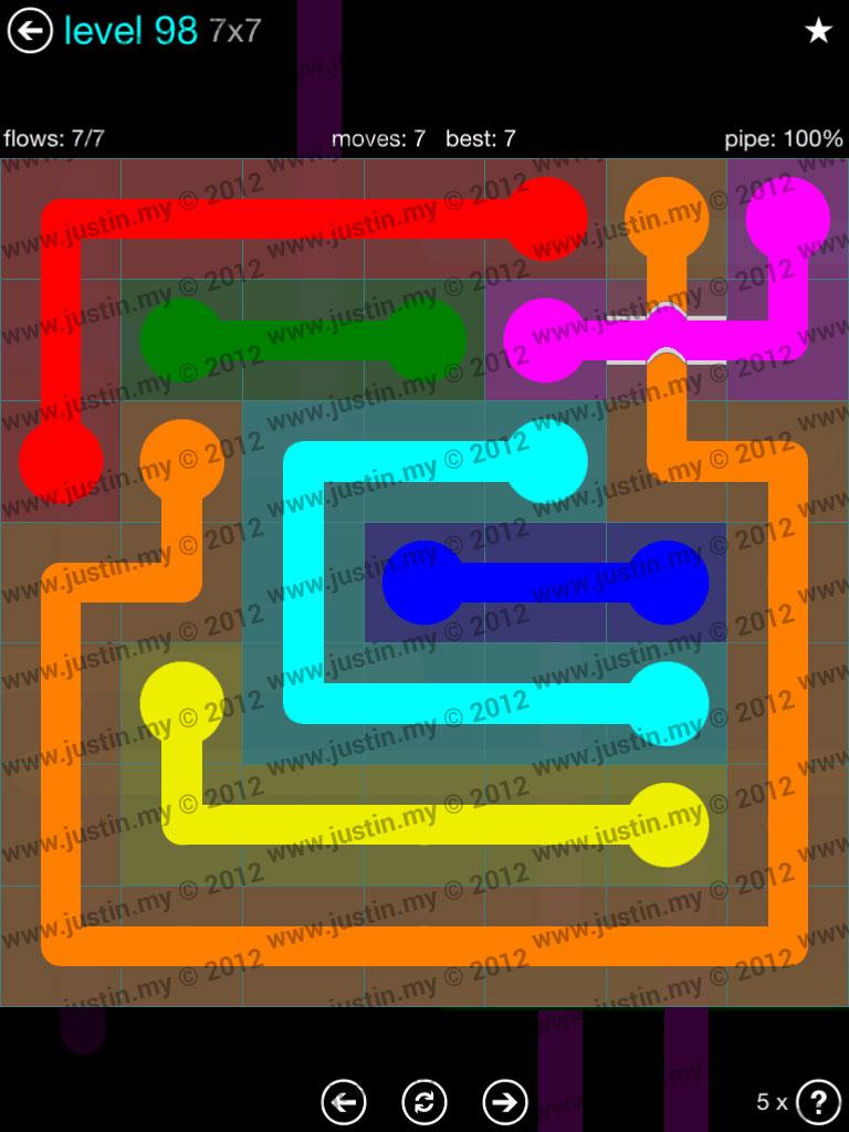 Flow Bridges 7x7 Mania  Level 98