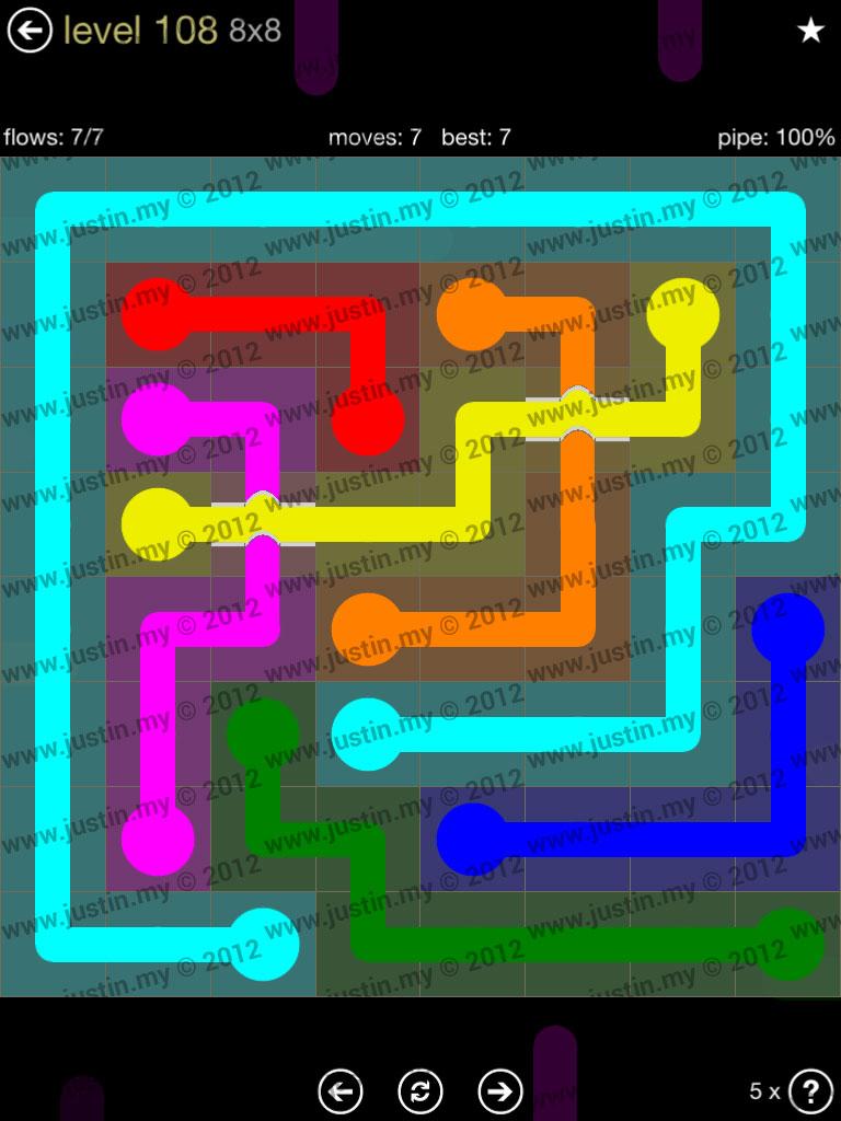 Flow Bridges 8x8 Mania Level 108