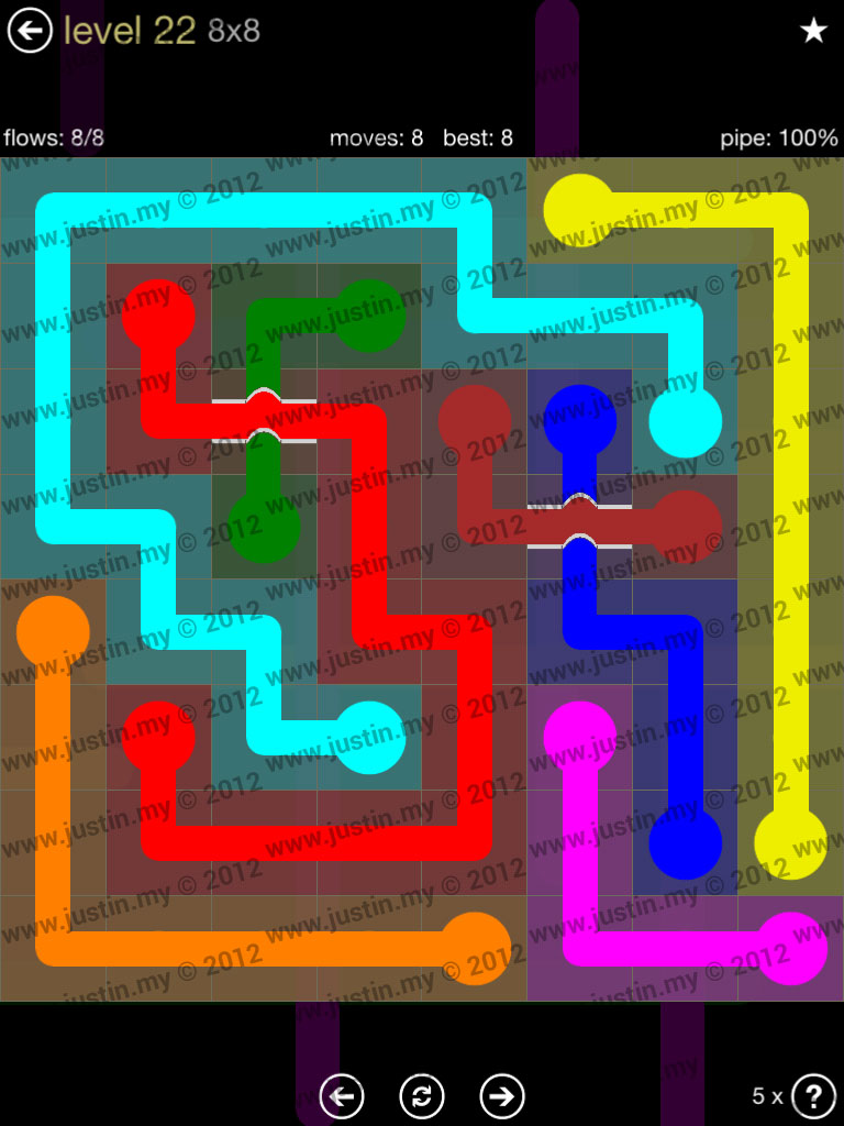 Flow Bridges 8x8 Mania Level 22