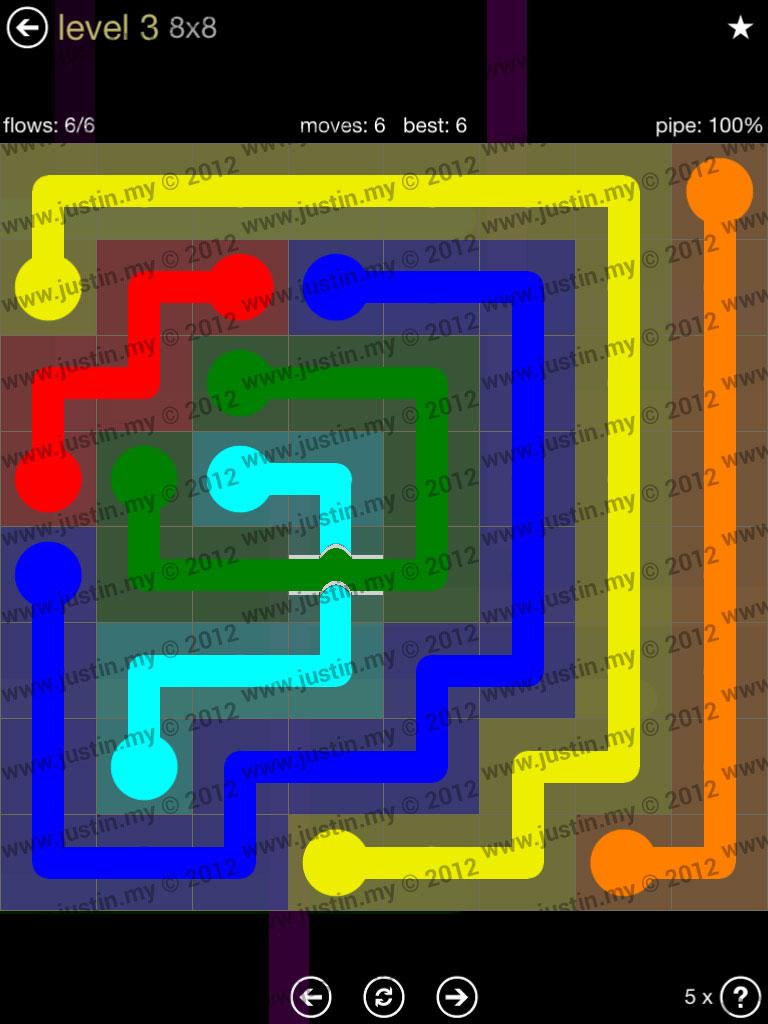 Flow Bridges 8x8 Mania Level 3