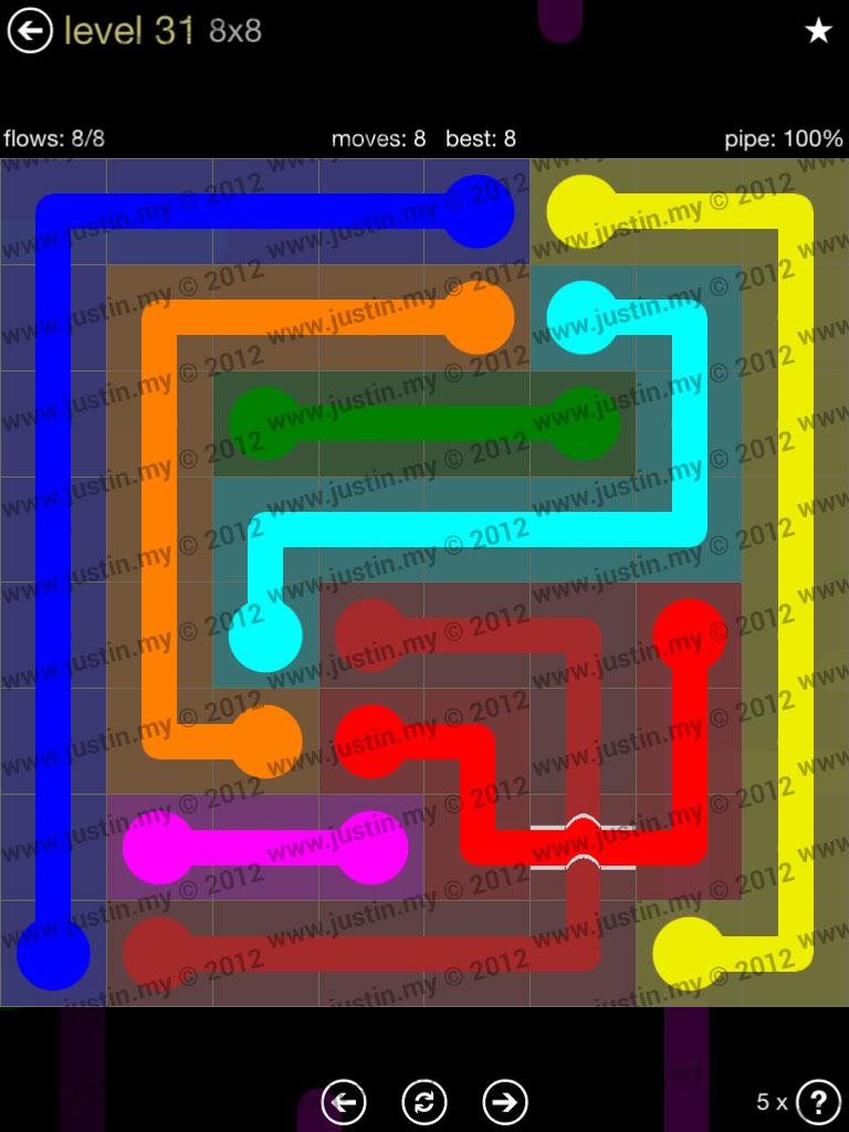 Flow Bridges 8x8 Mania Level 31