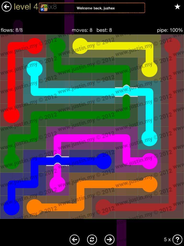 Flow Bridges 8x8 Mania Level 43