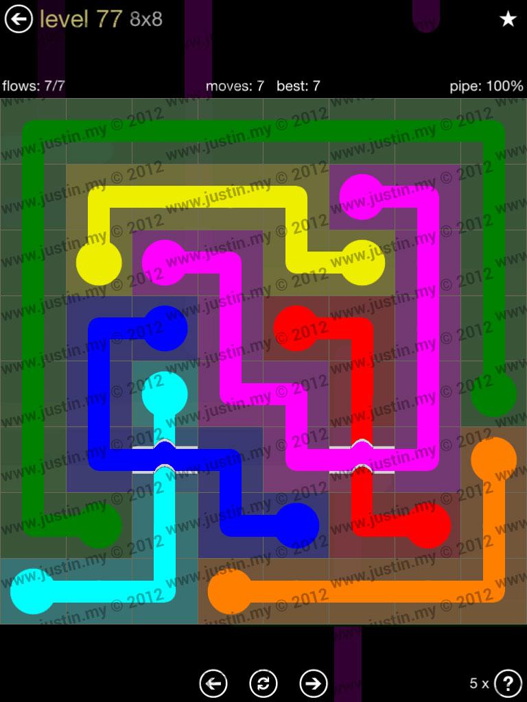 Flow Bridges 8x8 Mania Level 77