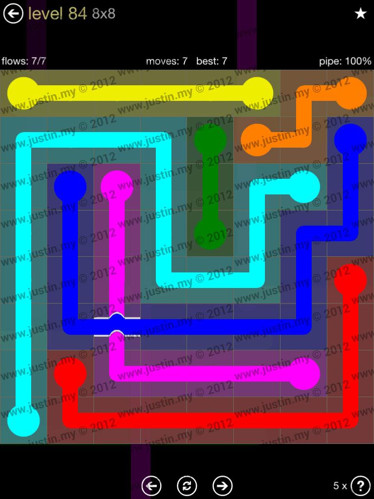 Flow Bridges 8x8 Mania Level 84