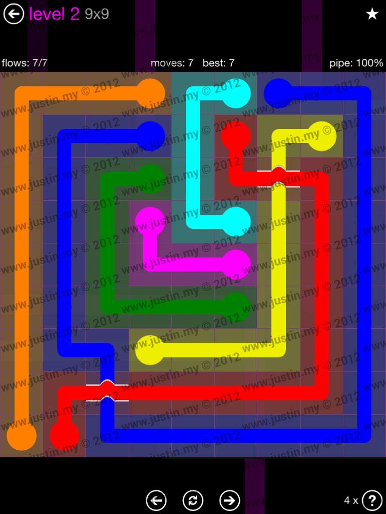 Flow Bridges 9x9 Mania Level 2
