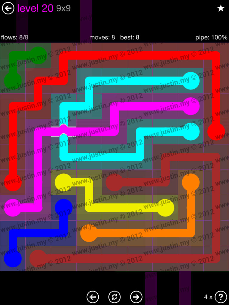 Flow Bridges 9x9 Mania Level 20