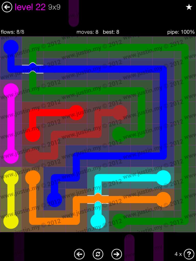 Flow Bridges 9x9 Mania Level 22