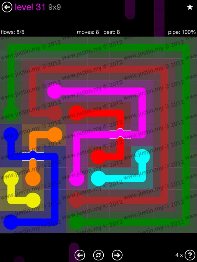 Flow Bridges 9x9 Mania Level 31